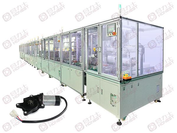 汽车玻璃升降器电机生产线